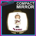 NURSE PERSONALISED WITH NAME COMPACT LADIES METAL HANDBAG GIFT MIRROR